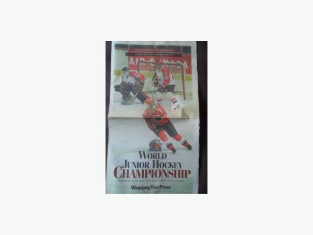 1999 WORLD JUNIOR HOCKEY CHAMPIONSHIP NEWSPAPERS