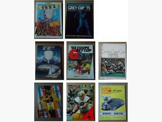 Collection of 29 Grey Cup programs