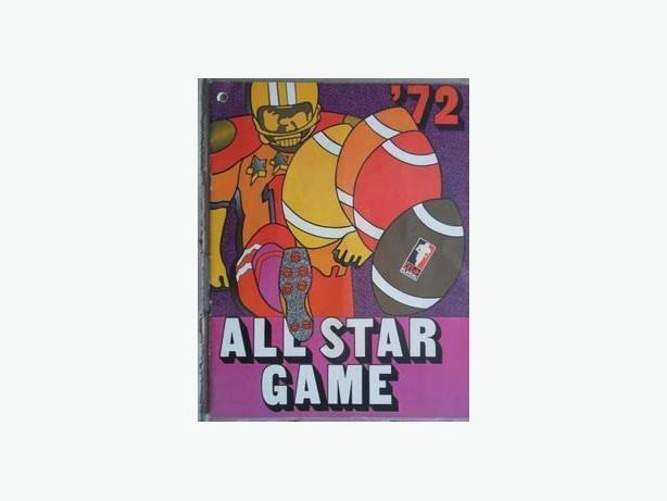 1972 CFL All-Star Game Program