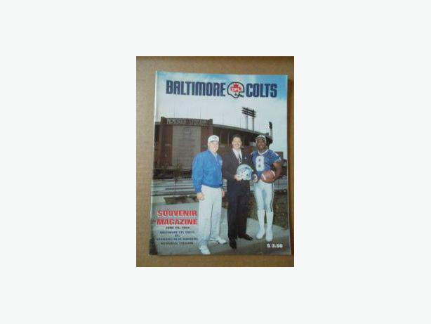 1994 Baltimore CFL Colts Inaugural Game program