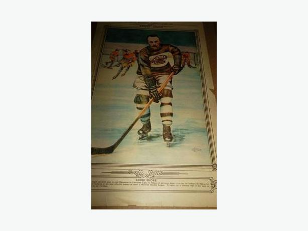 1928 Eddie Shore La Presse hockey photo