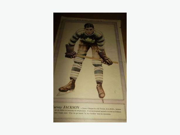"1931 Harvey ""Busher"" Jackson La Presse hockey photo"