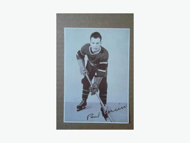 1930's Crown Brand hockey photo - Paul (Polly) Drouin