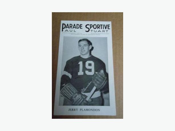 1940's Jerry Plamondon Parade Sportive hockey photo
