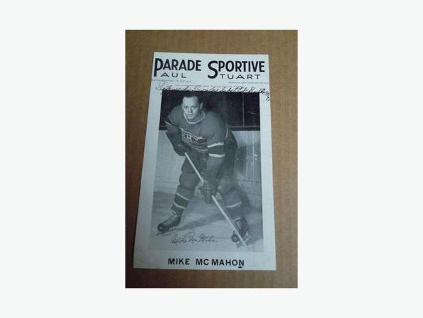 1940's Mike McMahon Parade Sportive hockey photo