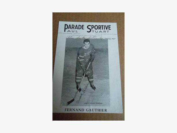 1940's Fern Gauthier Parade Sportive hockey photo
