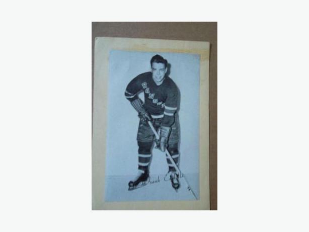 1940's - 50's Bee Hive hockey photo - Frank Eddolls
