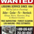 WASHINGTON LOGGING Company, 1-8OO-LOG ALOT, Timber Trees Harvesting Clearing NW