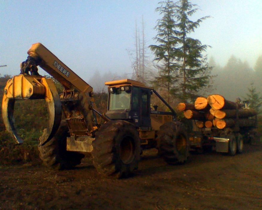 Washington logging company oo log alot timber trees