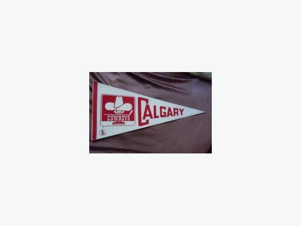Calgary Cowboys pennant