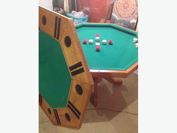 REDUCED: 3 In 1 Table, Poker Table, Bumper Pool Table