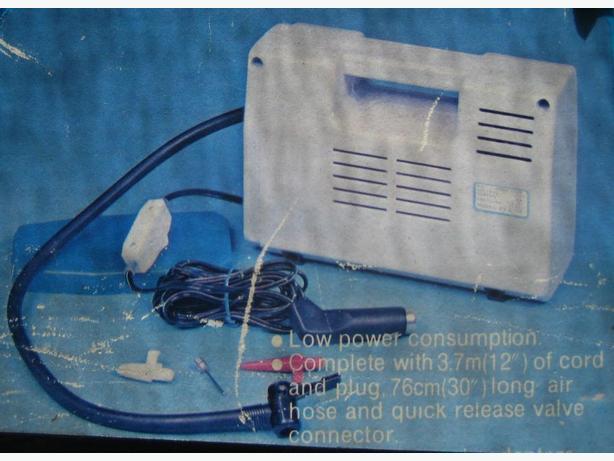 air compressor plugs into cig. lighter