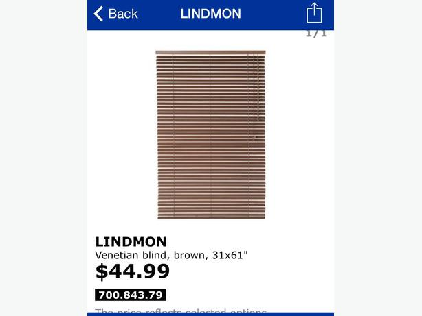 ikea lindmon blinds x2 west shore langford colwood metchosin highlands victoria. Black Bedroom Furniture Sets. Home Design Ideas