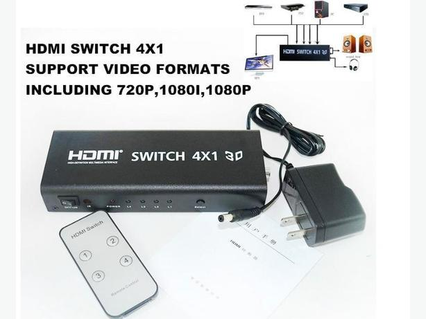 4x1 HDMI Switch With Toslink, Coaxial & Analog L/R Audio Output