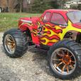 New RC Monster Truck  1/10 Scale HSP Radio Control Nitro 4WD 2.4G