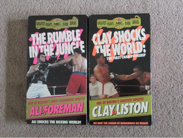Muhammad Ali Fights on Video. 26 VHS Videos