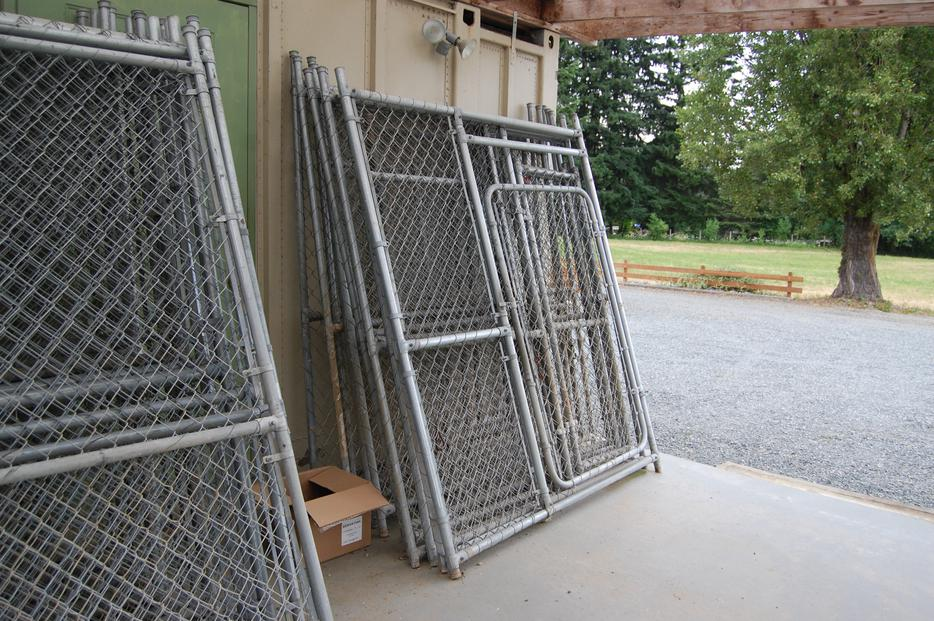 25 Galvanized Chain Link Fence Panels Outside Victoria