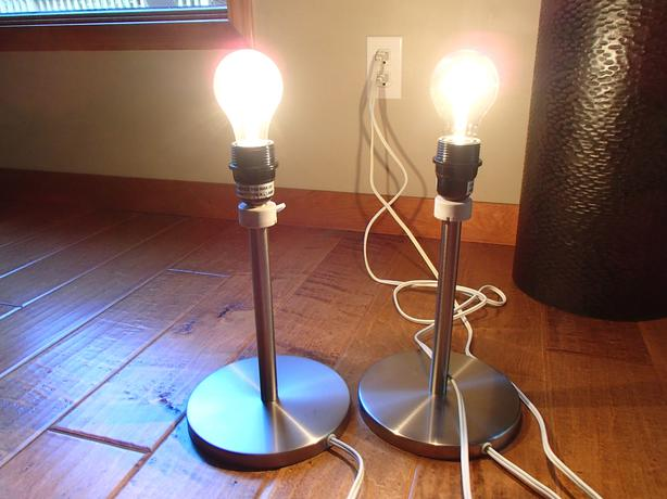 Table lamps (without shades) $5.00 each North Saanich & Sidney ...