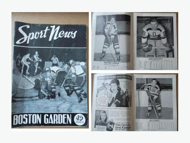 1948 Boston Bruins play-off program