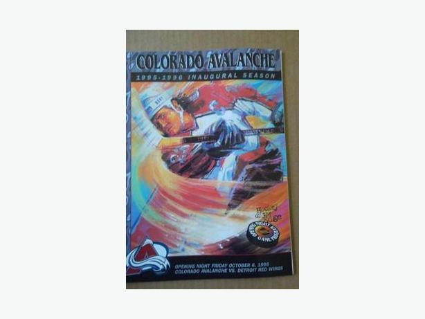 1995 Colorado Avalanche Inaugural Game program