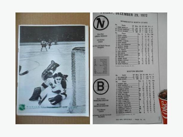 1972 Minnesota North Stars program - with Bobby Orr