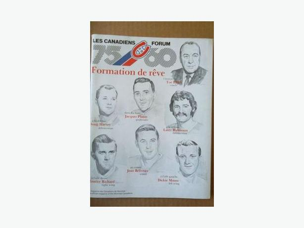 1985 Montreal Canadiens 75th Anniversary program