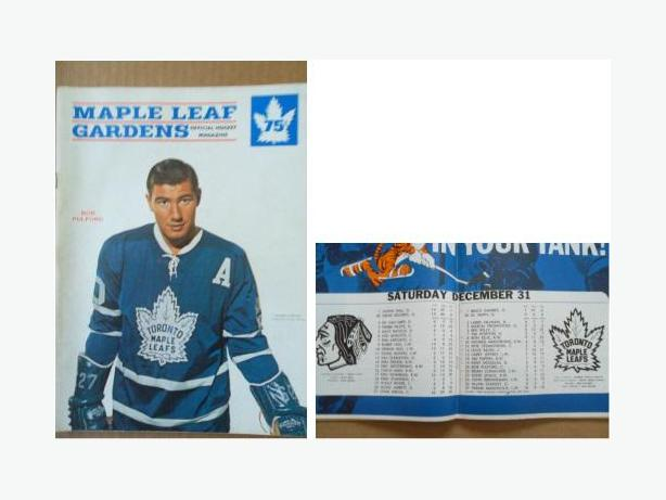 1966 Toronto Maple Leafs program