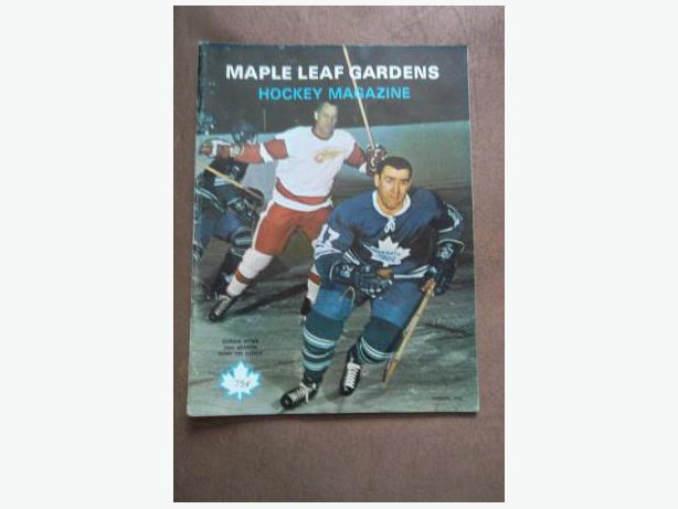 1969 Toronto Maple Leafs program