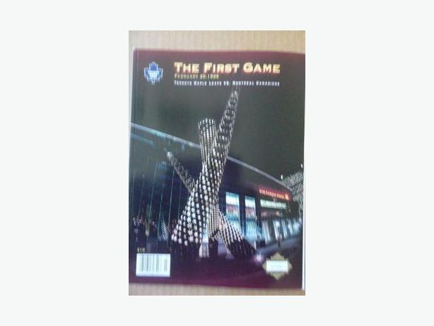 1999 Toronto Maple Leafs Inaugural Game at Air Canada Centre program
