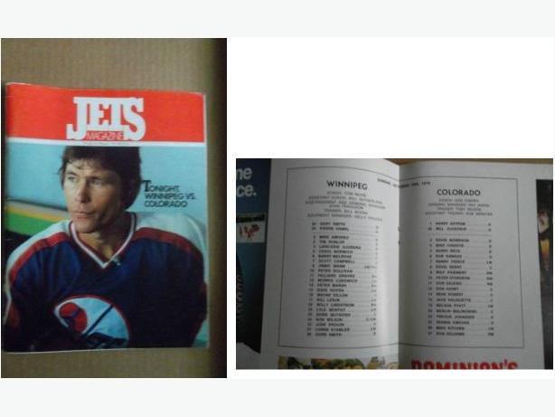 Winnipeg Jets 1979 Inaugural NHL Home Game program