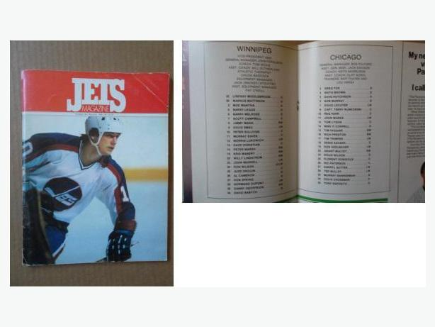 1980's Winnipeg Jets programs