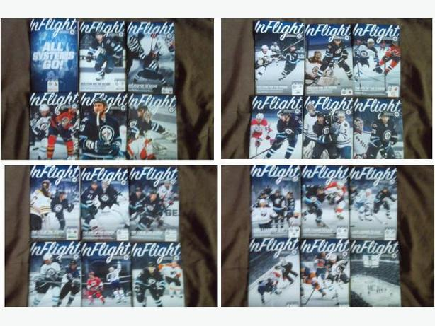 Set of 2013 Winnipeg Jets Home Game programs