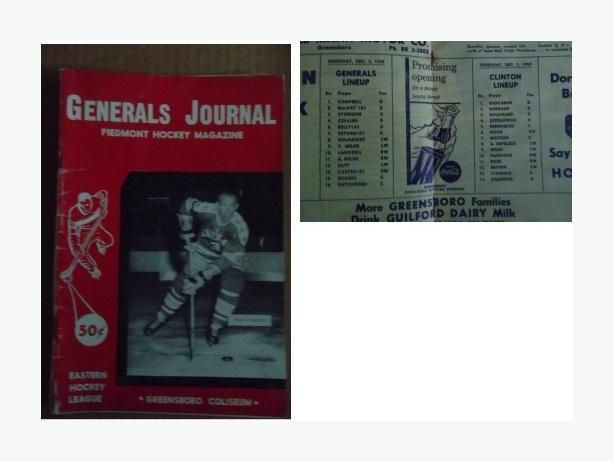 1959/60 Greensboro Generals program