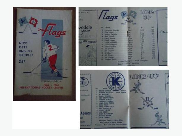 1962/63 Port Huron Flags program