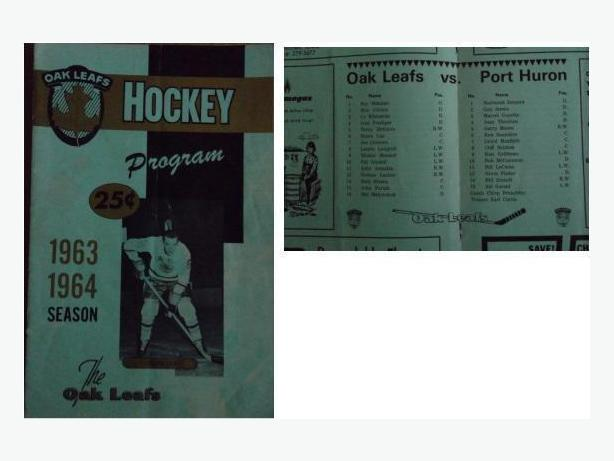 1960's  Des Moines Oak Leafs hockey programs