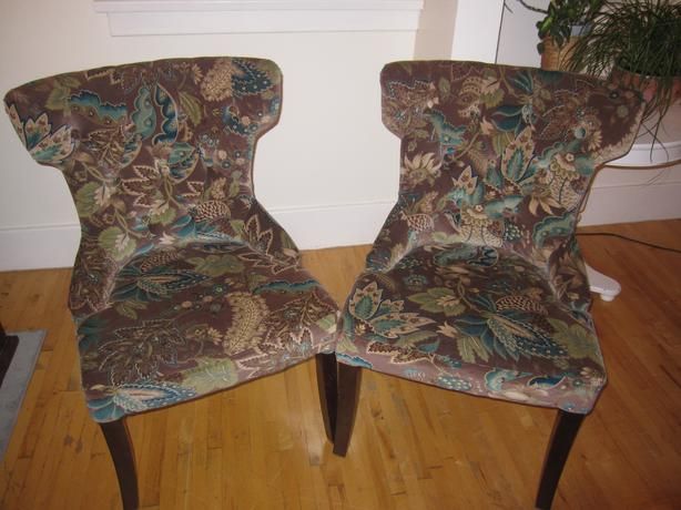 Pier One Peacock Hourglass Chairs