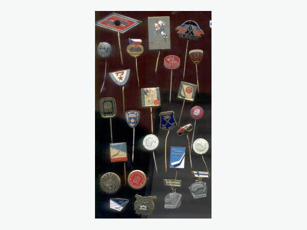 Great 1980's International Hockey Lapel Pin Collection.