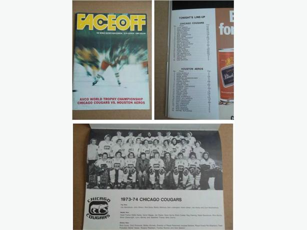 1973/74 WHA Avco Cup Final Championship program