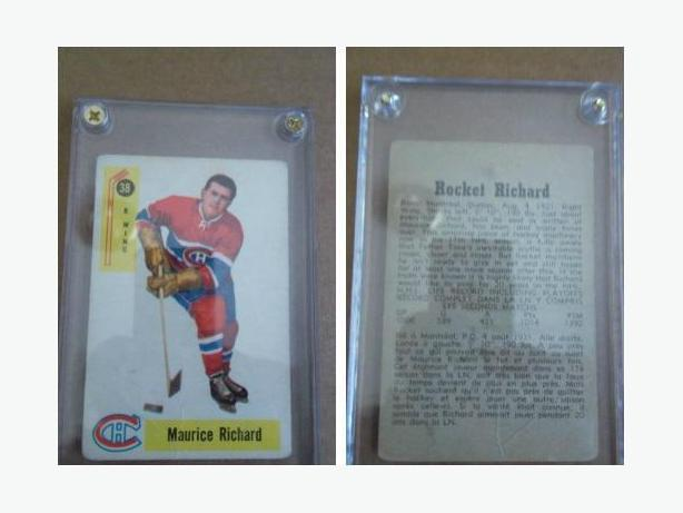 1958/59 Parkhurst Rocket Richard hockey card