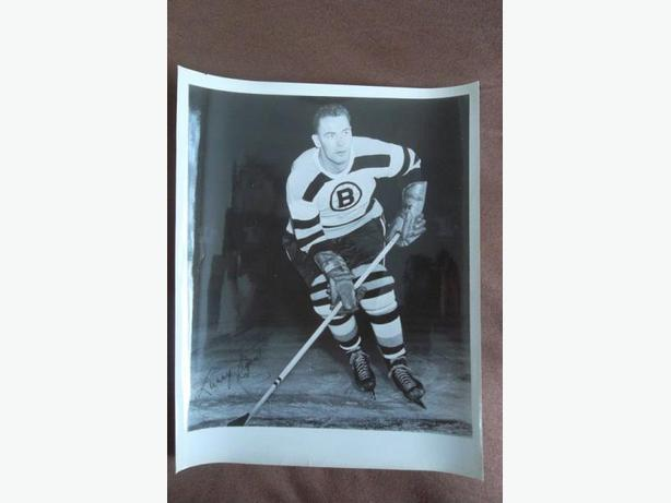 Larry Regan (Boston Bruins) black & white picture