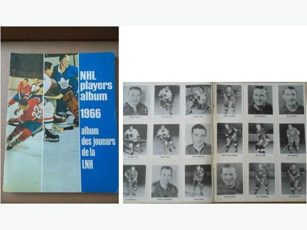 1965/66 Coca-Cola hockey card set in album