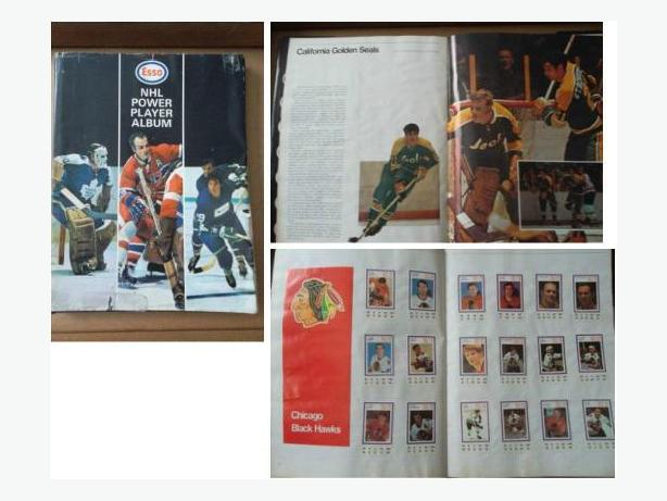 1970/71 Esso Power Players sticker set?in hardcover