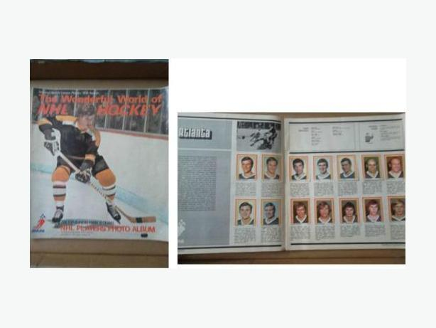 1972/73 Eddie Sargent hockey sticker set in Bobby Orr album