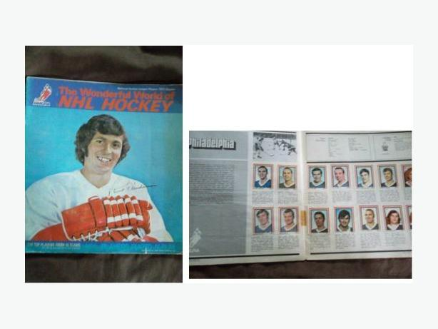 1972/73 Eddie Sargent hockey sticker set in Paul Henderson album