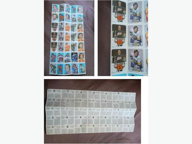 1973/74 Quaker WHA hockey cards uncut sheet