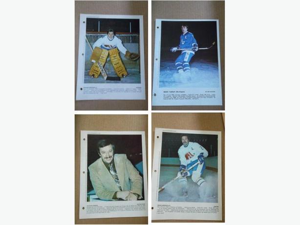"Late 1970's Quebec Nordiques (WHA) ""Derniere Heure"" hockey photos"