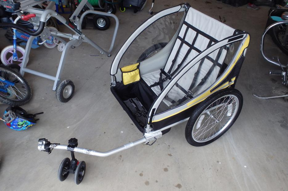 Bell Double Bike Trailer & Jogging Stroller Combo East ...