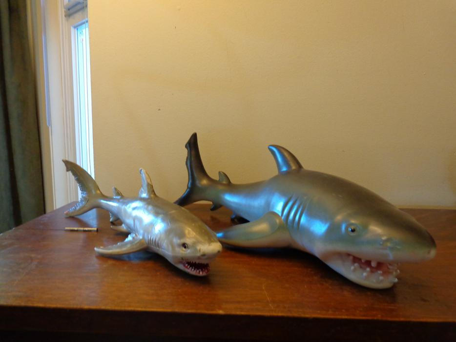 Jaws Rubber Shark Toy : Two shark toys north saanich sidney victoria