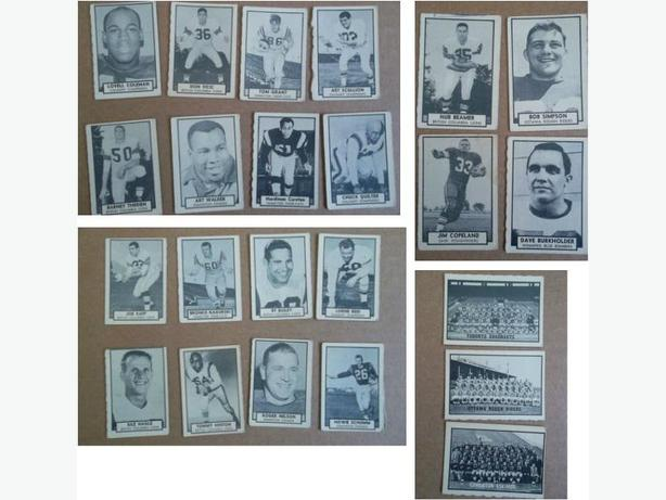 1962 Topps CFL Football cards