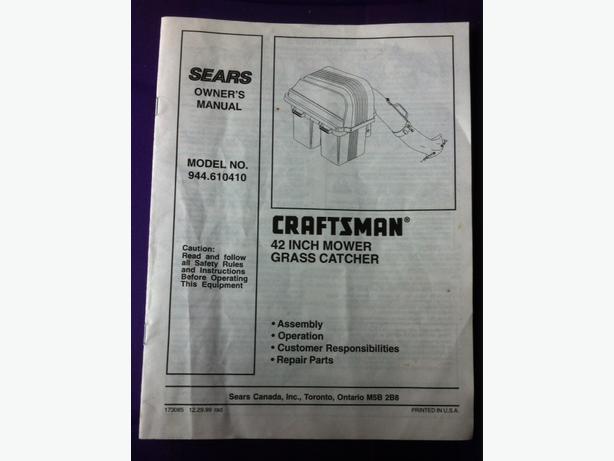 Craftsman 42 Quot Mower Grass Catcher Bagger Saanich Victoria